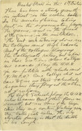 Basketball Collectibles:Others, 1930's James Naismith Handwritten Manuscript re: Basketball Rules.Tremendous basketball content makes this four-page handw...