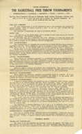 Basketball Collectibles:Others, 1930's James Naismith Typed Manuscript with Handwritten Notes re:Evolution of Basketball. Intriguing texts document the ch...