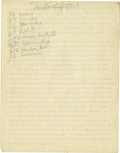 Basketball Collectibles:Others, 1930's James Naismith Typed Manuscript with Handwritten Notes re: Invention of Basketball. Eight typed pages with numerous ...