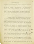 Basketball Collectibles:Others, 1930's James Naismith Typed Manuscript with Handwritten Notes re:Evolution of Basketball. Two short manuscripts represent ...