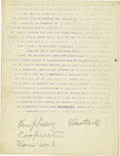 Basketball Collectibles:Others, 1930's James Naismith Typed Manuscript with Handwritten Notes re: Teamwork. Two short manuscripts represent early text that...