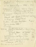 Basketball Collectibles:Others, 1930's James Naismith Typed Manuscript with Handwritten Notes re:Spread of Basketball. Several dozen handwritten and typed...