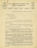 Basketball Collectibles:Others, 1930's James Naismith Typed Manuscript with Handwritten Notes re: Basketball Rules. Five typed pages with numerous handwrit...