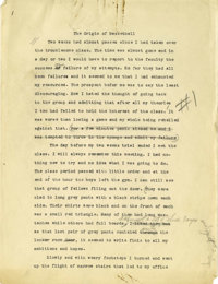 1930's James Naismith Typed Manuscript with Handwritten Notes re: Birth of Basketball. Fifteen typed pages with numerous...