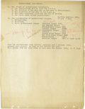 Basketball Collectibles:Others, 1930's James Naismith Typed Manuscript with Handwritten Notes re:Professional Basketball. Thirteen typed pages with numero...