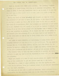 Basketball Collectibles:Others, 1930's James Naismith Typed Manuscript with Handwritten Notes re:Evolution of Basketball. Eight typed pages were Intended ...