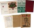 Basketball Collectibles:Others, James Naismith's Personal Reach & Spalding's Athletic GuidesLot of 7. Assortment of Official guides and other publications...