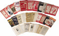 Basketball Collectibles:Others, James Naismith's Personal Reach & Spalding's Athletic GuidesLot of 32. The balance of Naismith's athletic guide collection...