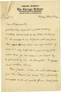 """Basketball Collectibles:Others, 1931 Handwritten Letter to Dr. Naismith re: Basketball in China.Fascinating letter on """"The Chicago Tribune, Peking Bureau""""..."""