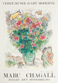 Prints:European Modern, After MARC CHAGALL (Belorussian, 1887-1985). Marc Chagall.Ceret, Musee d'Art Moderne, 1978. Offset lithographicexhibit...