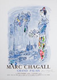 After MARC CHAGALL (Belorussian, 1887-1985) Marc Chagall Grand Palais, 1969 Offset lithographic exhi