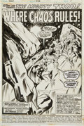 Original Comic Art:Splash Pages, John Buscema and Jim Mooney Thor #216 Splash Page 1 OriginalArt (Marvel, 1973)....
