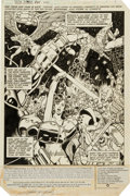 Original Comic Art:Splash Pages, George Perez and Romeo Tanghal The New Teen Titans #25Splash Page 1 Original Art (DC, 1982)....