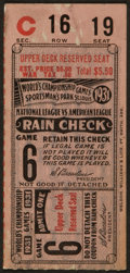 Baseball Collectibles:Tickets, 1931 World Series Game 6 Ticket Stub. ...