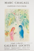 """Prints, After MARC CHAGALL (Belorussian, 1887-1985). Mac Chagall """"Daphnis and Chloe"""", 1972. Offset lithographic exhibition poste..."""