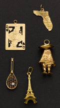 Estate Jewelry:Suites, Five Gold Charms. ...