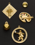 Estate Jewelry:Suites, Five Gold Charms/Drops. ...
