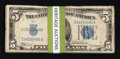 Small Size:Silver Certificates, Hoard of $5 Silvers. ... (Total: 158 notes)