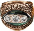 "Football Collectibles:Others, 1967 Green Bay Packers Super Bowl II Championship Ring Presented to Frederick ""Fuzzy"" Thurston...."