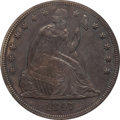 Seated Dollars: , 1847 $1 AU55 PCGS. PCGS Population (78/95). NGC Census: (56/158).Mintage: 140,750. Numismedia Wsl. Price for problem free ...