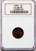 Proof Indian Cents, 1880 1C PR66 Red NGC....