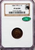 Proof Indian Cents, 1886 1C Type Two PR66 Brown NGC. CAC....