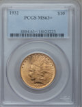 Indian Eagles: , 1932 $10 MS63+ PCGS. PCGS Population (16965/9517). NGC Census:(19669/12287). Mintage: 4,463,000. Numismedia Wsl. Price for...