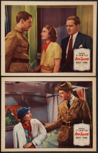 """Red Salute (United Artists, 1935). Lobby Cards (2) (11"""" X 14""""). Romance. ... (Total: 2 Items)"""