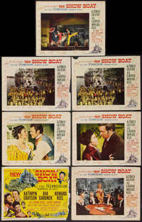 """Show Boat (MGM, 1951). Title Lobby Card & Lobby Cards (6) (11"""" X 14""""). Musical. ... (Total: 7 Items)"""