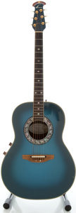 Musical Instruments:Acoustic Guitars, Circa 1980's Ovation 1982-8 Blueburst Acoustic Electric Guitar,Serial #1866....
