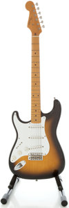 Musical Instruments:Electric Guitars, Circa Early 1990's Fender Stratocaster MIJ Lefty Sunburst SolidBody Electric Guitar, Serial #T018962....