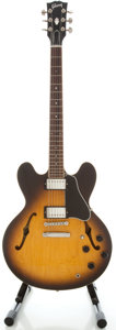 Musical Instruments:Electric Guitars, 1993 Gibson ES-335 Sunburst Semi-Hollow Body Electric Guitar,Serial #92873338....