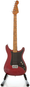 Musical Instruments:Electric Guitars, 1981 Fender Lead 1 Trans Red Solid Body Electric Guitar, Serial#E102661....