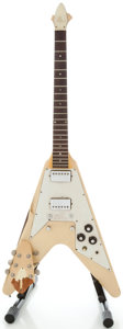 Musical Instruments:Electric Guitars, Circa Early 1970's Gibson V White Solid Body Electric Guitar,Serial #968367....