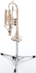 Musical Instruments:Horns & Wind Instruments, Getzen Eterna Silver Cornet, Serial #P23408....