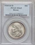 Commemorative Silver: , 1935/34-D 50C Boone MS65 PCGS. PCGS Population (236/222). NGCCensus: (151/176). Mintage: 2,003. Numismedia Wsl. Price for ...