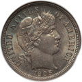 Barber Dimes: , 1905-S 10C MS64 NGC. NGC Census: (26/15). PCGS Population (49/30). Mintage: 6,855,199. Numismedia Wsl. Price for problem fr...