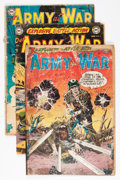 Golden Age (1938-1955):War, Our Army at War Group (DC, 1952-56) Condition: Average GD-....(Total: 7 Comic Books)