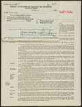 Baseball Collectibles:Others, 1948 George Weiss and Horace Stoneham Signed Contracts - With TwoExamples from Each!...