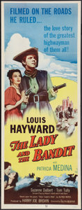 "Movie Posters:Adventure, The Lady and the Bandit (Columbia, 1951). Insert (14"" X 36"").Adventure.. ..."