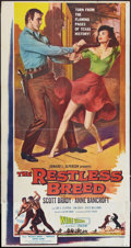 """Movie Posters:Western, The Restless Breed (20th Century Fox, 1957). Three Sheet (41"""" X 81""""). Western.. ..."""