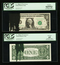 Error Notes:Ink Smears, Fr. 1908-K $1 1974 Federal Reserve Note. PCGS Gem New 65 & 66PPQ.. ... (Total: 2 notes)