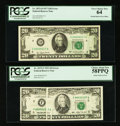 Error Notes:Error Group Lots, An Attractive Pair of $20 Errors.. ... (Total: 2 notes)