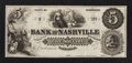 Obsoletes By State:Tennessee, Nashville, TN- Bank of Nashville $5. ...