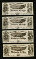 Canadian Currency: , Montreal, PC- Victoria Bridge, Set of Four Advertising Notes. ...(Total: 4 notes)
