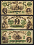 Obsoletes By State:Louisiana, New Orleans, LA- Citizens' Bank of Louisiana $5; $20; $50. ... (Total: 3 notes)