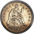 Proof Seated Half Dimes, 1854 H10C Arrows PR63 PCGS. CAC....