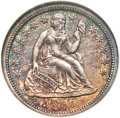 Seated Dimes, 1860-S 10C MS61 NGC. Fortin-101....
