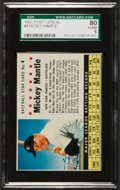 Baseball Cards:Singles (1960-1969), 1961 Post Cereal Hand Cut Mickey Mantle #4 SGC 80 EX/NM 6....