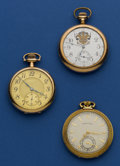 Timepieces:Pocket (post 1900), Three American 12 Size Runners. ... (Total: 3 Items)
